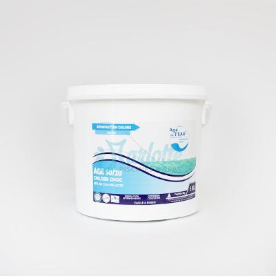 Chlore choc age 50 20 5kg marlotte piscines for Chlore choc piscine
